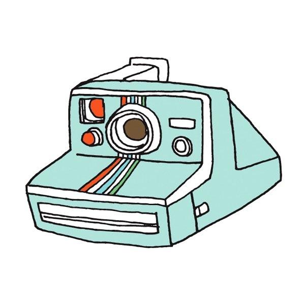 Indie Designed Polaroid Instant Camera Temporary Tattoo - 2 pack $5.00