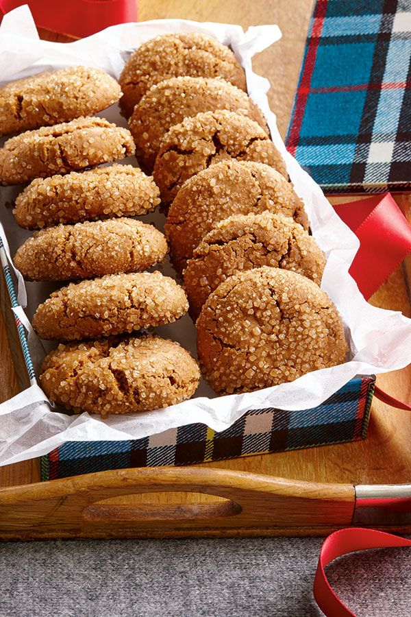 These soft and cakey molasses cookies are rolled in coarse turbinado sugar for a pleasant crunch and an extra hit of sweetness.