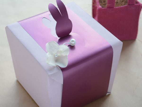 Plum blush gift wrap - such a lovely colour for Easter