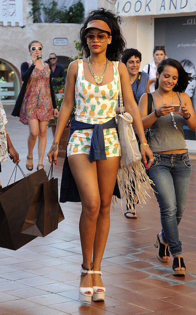 Rihanna in a Topshop romper [do want]!
