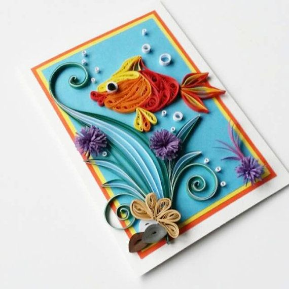 Fish Greeting Card - Birthday Card for Kids - Card for Boy - Card for Girl…