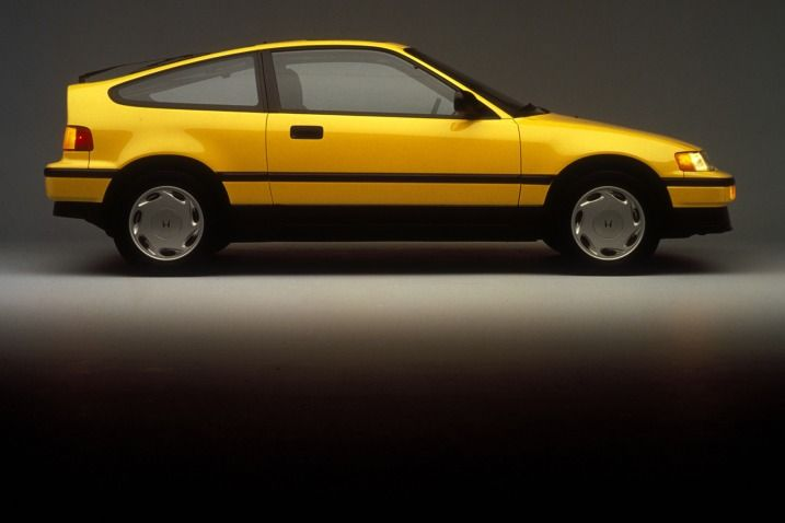 1988 Honda CRX Si. This is my dream car. In yellow, my favorite color