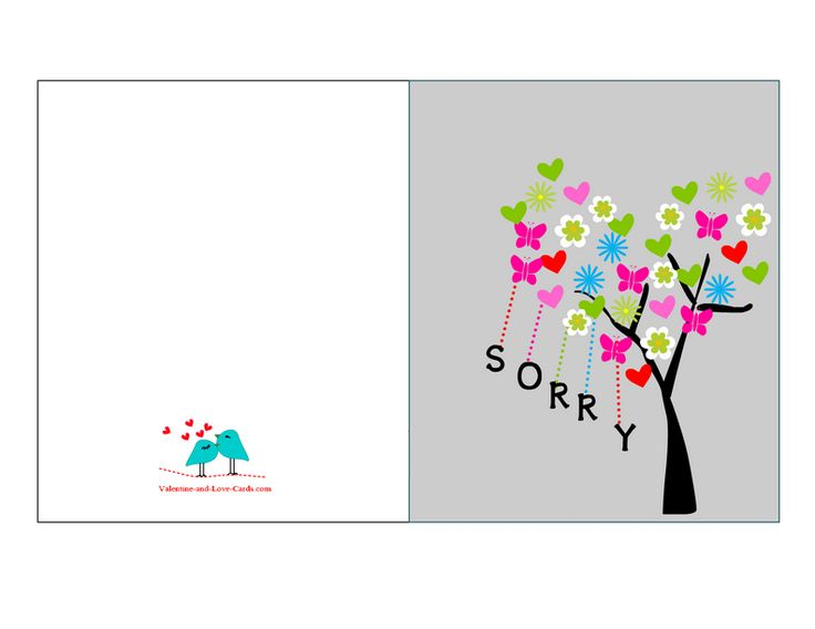 27 best sorry images on Pinterest Inspire quotes, Sorry cards - free printable apology cards