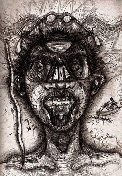 Cet artiste a réalisé plusieurs autoportraits sous l'emprise de différentes drogues, et le résultat est vraiment... Stupéfiant ! Bryan Lewis Saunders