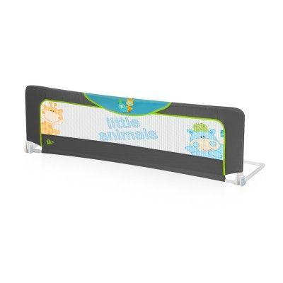 Barrera #cama #MS Gris Littel  la protección anti caídas para los peques y la tranquilidad y seguridad para los #padres. Barandilla para la cama del #bebé. Se puede reclinar para hacer la cama o que el #niño baje sin necesidad de desinstalarla gracias a sus articulaciones laterales de 180º. - Abatible 360º. - Fabricada en Nylon. #infantil #niños #seguridad #bebe