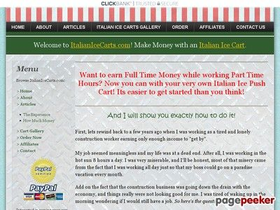 awesome Italian Ice Carts | Start Your Own Italian Ice Cart And Easily Make Money! | www.ItalianIceCarts.com