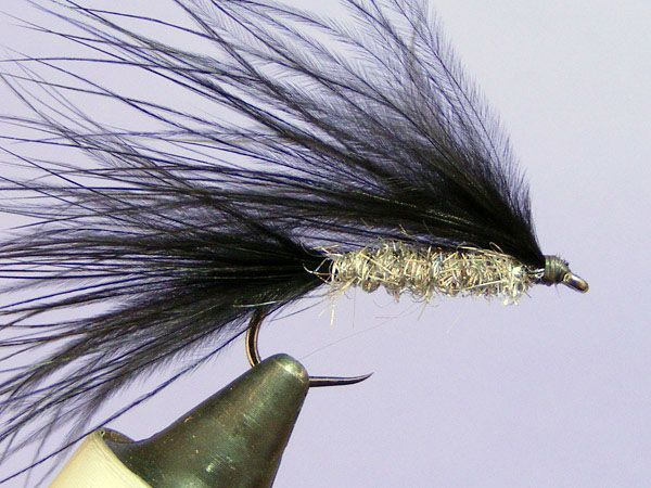 Marabou streamer with silver holographic body - How to tie fly, Fly tying Step by Step Patterns & Tutorials