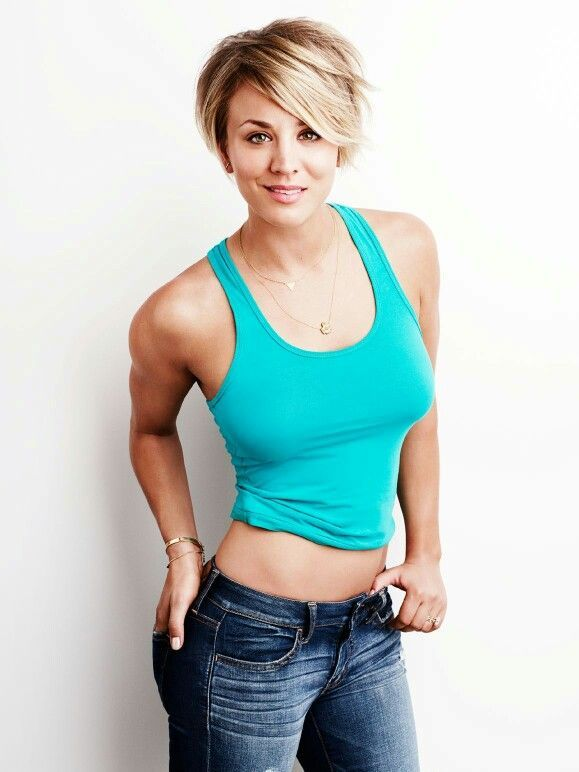 pixie cut kaley cuoco
