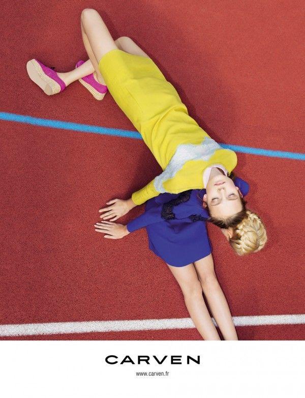 Carven's Spring/Summer 2012 Campaign, photographed by Viviane Sassen features Dutch beauty Nimue Smit