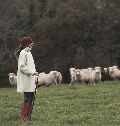 Coracle sweater from Wales...beautiful!  I might need it in dark grey, however...farms are dirty.