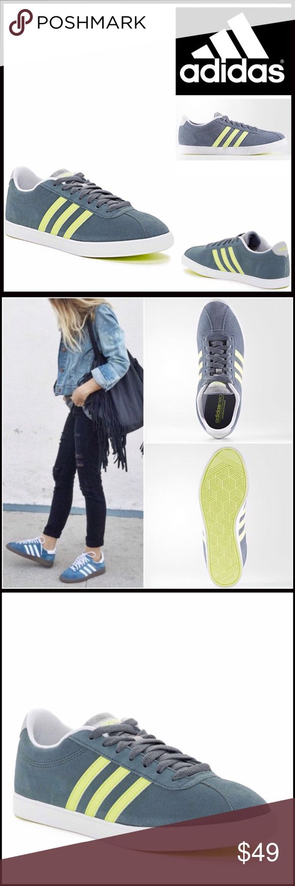Adidas SNEAKERS Stylish Women's Sneakers NEW WITH TAGS  Adidas Stylish Women's Sneakers    * Round toe & lace up vamp  * A contrasting ballet flat sneaker sole   * Side contrasting signature super star stripes   * Low profile style  * Non-marking sole & cushioned insole  * True to size   Material: Leather upper & a rubber sole Color: Lead Item#AD9  No Trades ✅ Offers Considered*✅ *Please use the blue 'offer' button to submit an offer adidas Shoes Sneakers
