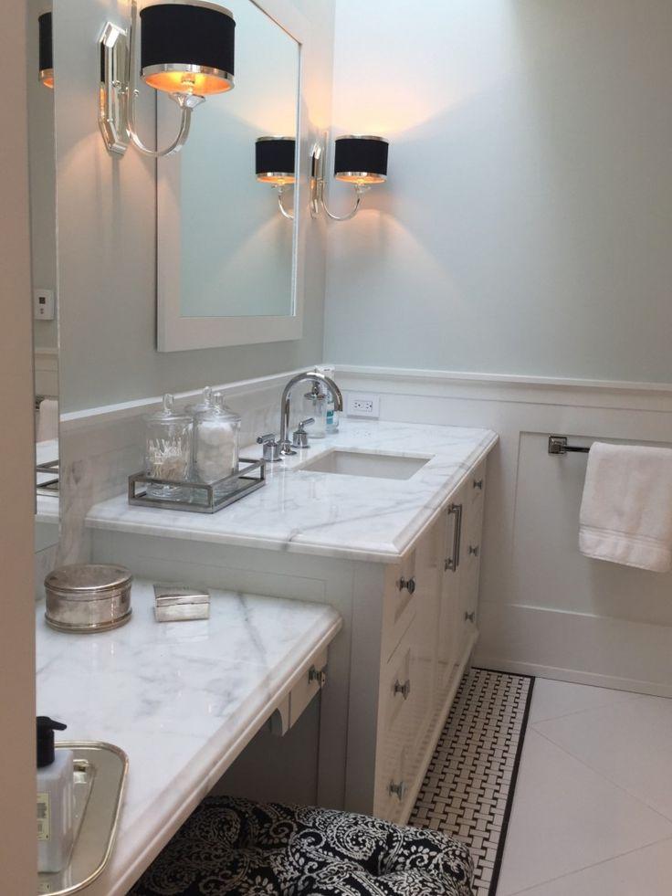 Calcutta Marble Vanity Bathroom Design by Interior Designer Shelley Scales Vancouver BC