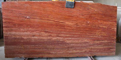 Red Travertine Marble Slab