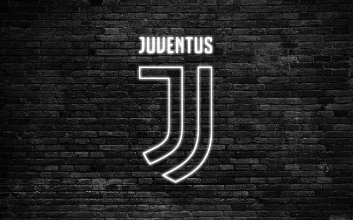 Descargar fondos de pantalla La Juventus, 4k, de la Serie a, el nuevo logotipo de la Juventus, de Italia, de fútbol, de neón logotipo, luz de neón