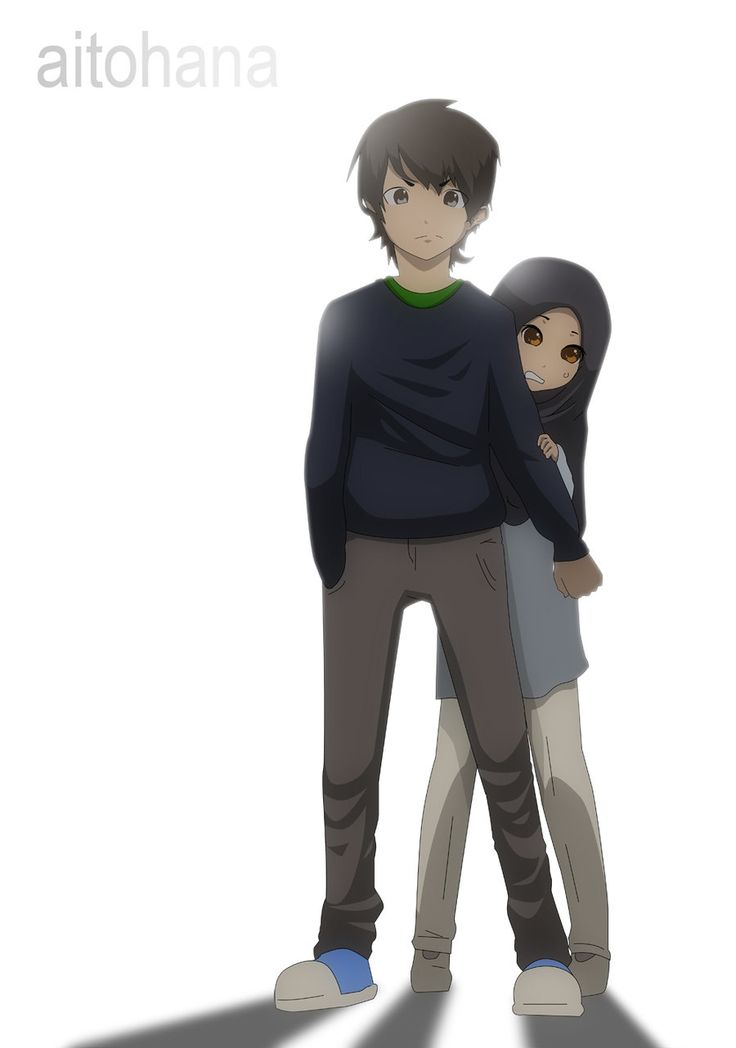 don__t_worry_i__m_here_by_aitohana-d4nit7z deviant art boy protecting girl