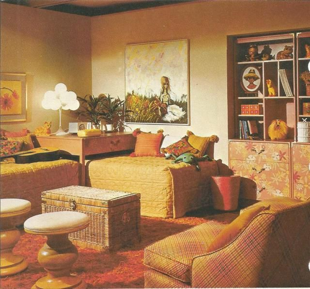 Vintage Home Decor, 1970s Interiors