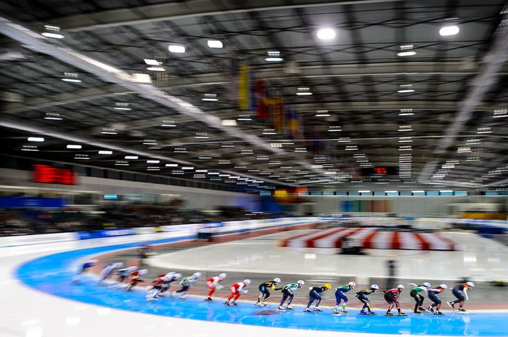 Ladies Mass Start, ISU World Cup Speedskating at Utah Olympic Oval, Kearns, Utah