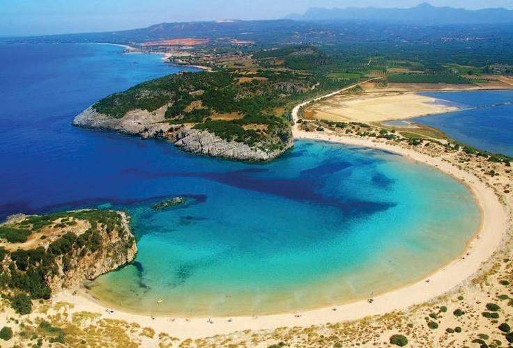 Voidokilia beach, Peloponnese, Greece #Iridaresort www.iridaresort.com