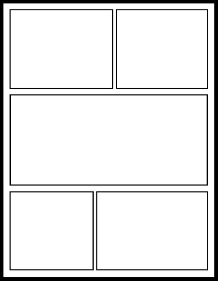 blank comic layout comic template for my comics unit classroom