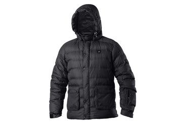Vigilante Helvetica Mens Puff Down Jacket - Black