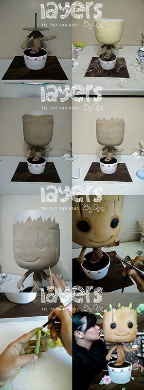 Tarta Primer brote. #tarta #tutorial #planta
