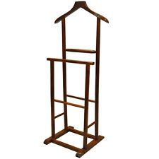 JEEVES - Solid Wood Rustic Clothes Valet / Hanging Rail - Mahogany ST0400M