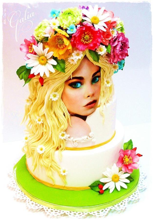 GIRL SPRING - Cake by Galia Hristova – Art Studio  #provestra #coupon code nicesup123