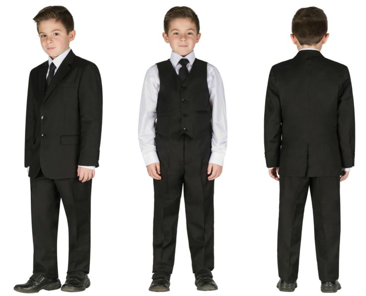 Black 5 pieces formal chic wedding suit for kids tuxedo  #wow #suit #chic #amazing #fashion #boy #children #life #event  #wedding