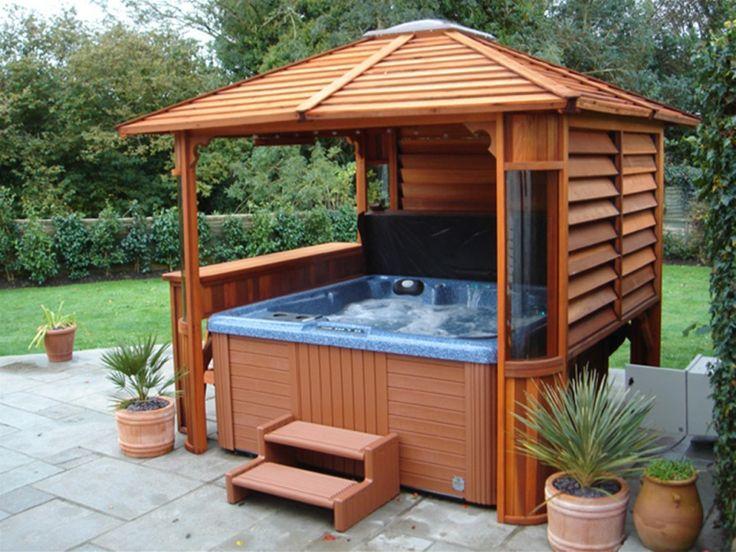 Best 25 hot tub gazebo ideas on pinterest hot tub for Diy hot tub gazebo