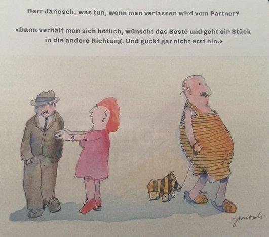 Herr #Janosch, was tun, wenn man verlassen wird vom Partner?