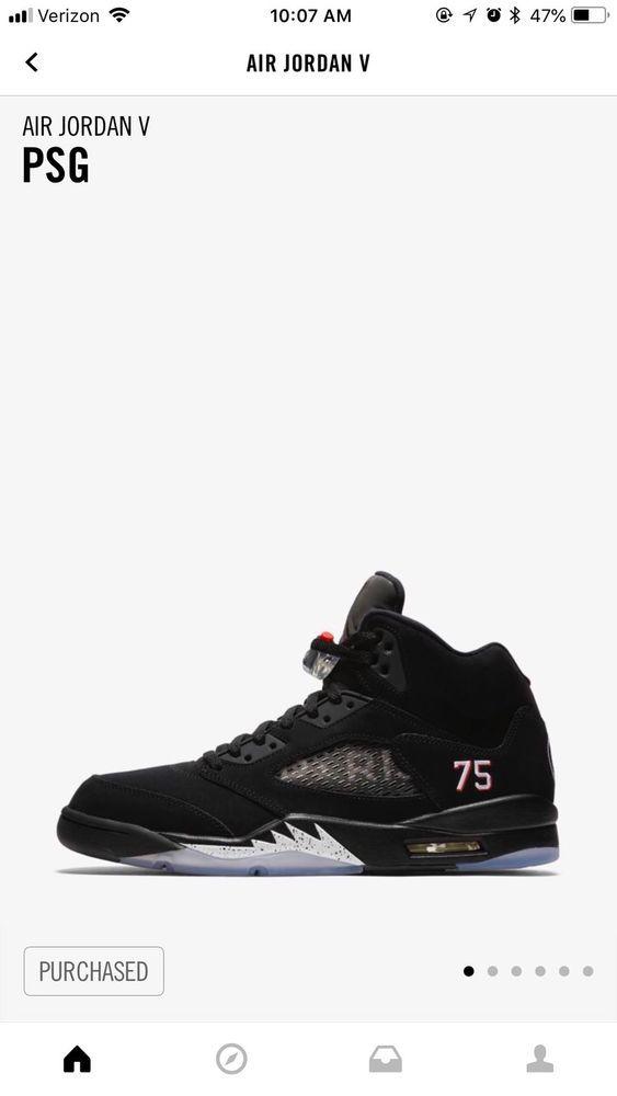 competitive price ecac9 263c4 Air Jordan 5 Paris Saint German  fashion  clothing  shoes  accessories   mensshoes  athleticshoes (ebay link)