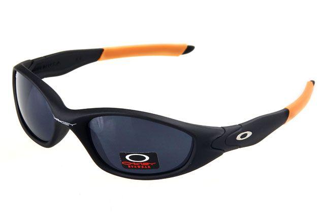 Oakley Juliet Sunglasses Black Orange Frame Jetblack Lens , wholesale cheap  $16 - www.hats