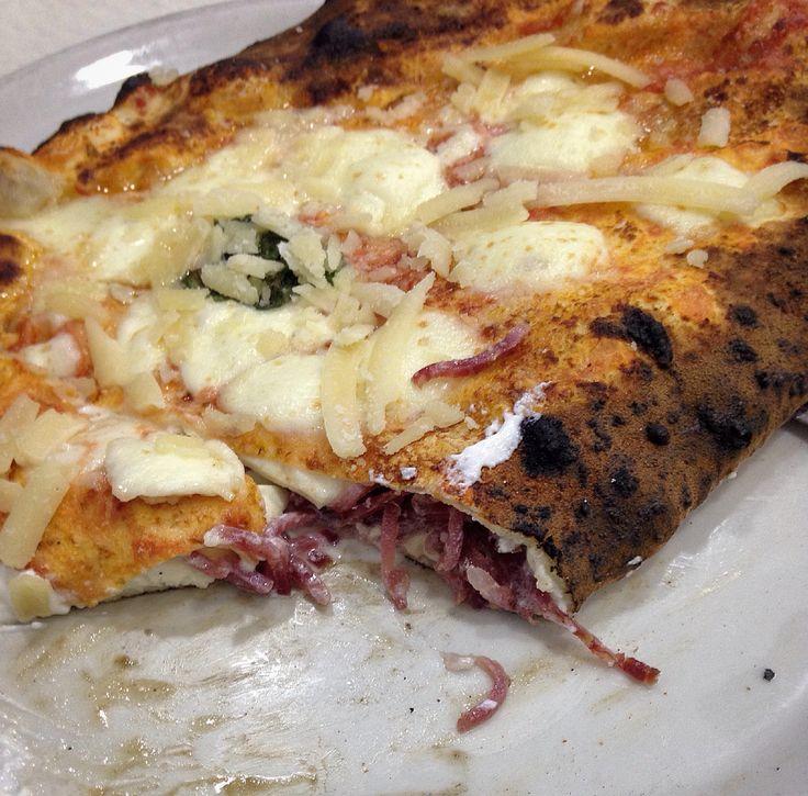 Ripieno al salame ricotta mozzarella e scaglie di parmigiano