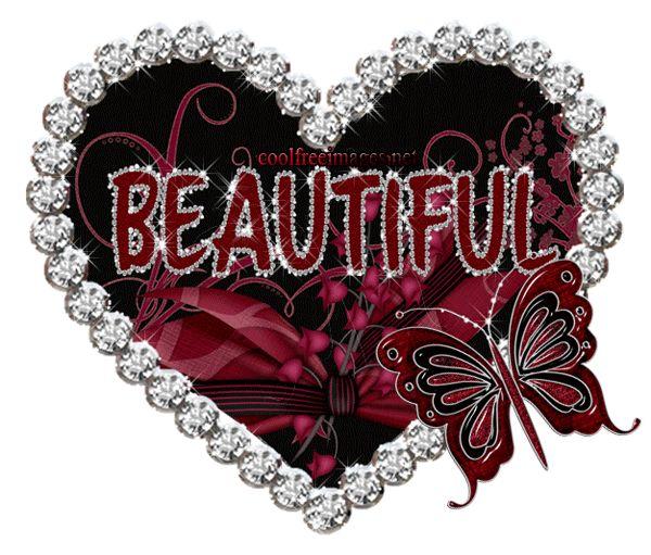 Pin By Cheri Rollo On You Are Beautiful Heart Gif Glitter