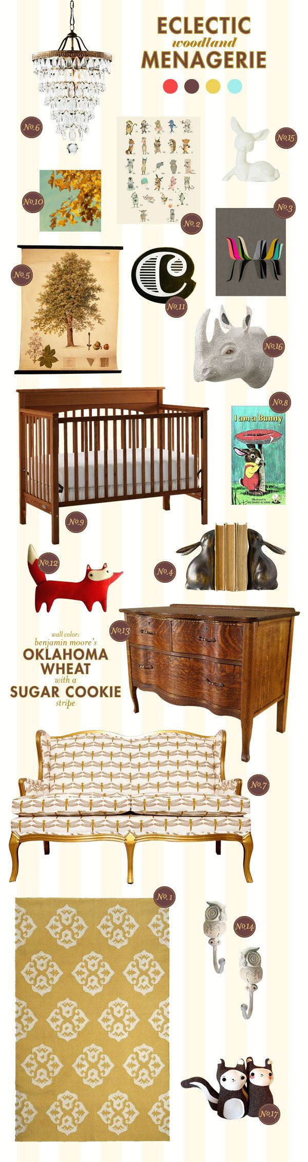 woodland-menagerie baby nursery inspiration board