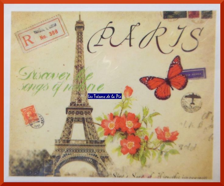 STICKERS ONGLES WATER DECAL - Nail art - Tour Eiffel Paris - Multicolore
