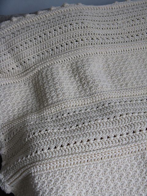 May Day blanket - pretty textures, easy pattern  #crochet #afghan #blanket #throw
