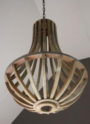 sobere houten hanglamp oud grijs landelijke kroonluchter no.39 ...