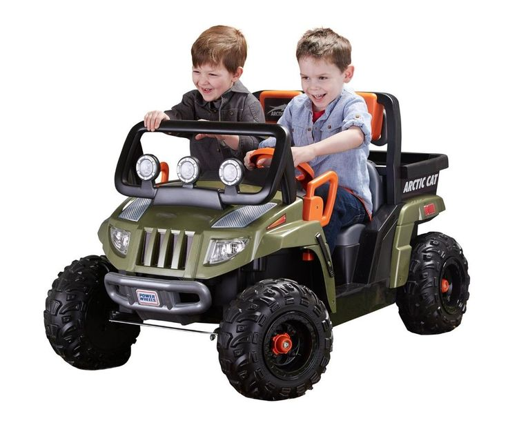 fisher price ride on toys power wheels arctic cat jeep car for kids green offroa