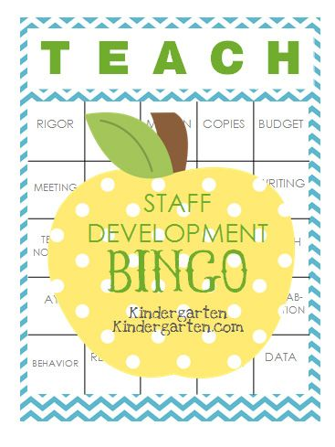 Staff Development Bingo: This cracks me up! Not sure if I'm brave enough to play during opening meetings, but I love the idea. Love the do's and don'ts that go with this printable.