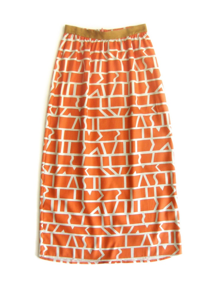 Dusen Dusen Long Skirt - Coral Cutouts