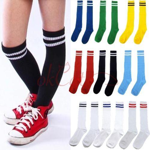 Children-Boy-Sport-Football-Soccer-Sport-Knee-Tube-Half-Socks-Stocking-10-Colors
