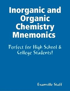 Totally going to need this!! Inorganic and Organic Chemistry Mnemonics. Learn and review on the go! http://www.Examville.com - The Education Marketplace.