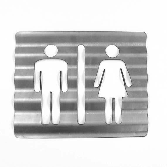 Bathroom Signs Metal best 25+ unisex bathroom sign ideas on pinterest   unisex bathroom