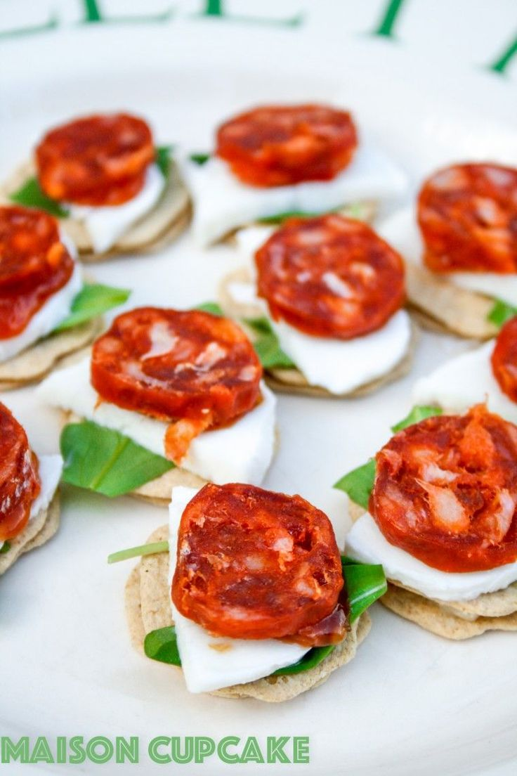 Chorizo canapes recipe with mozzarella and rocket recipe for Canape receipes