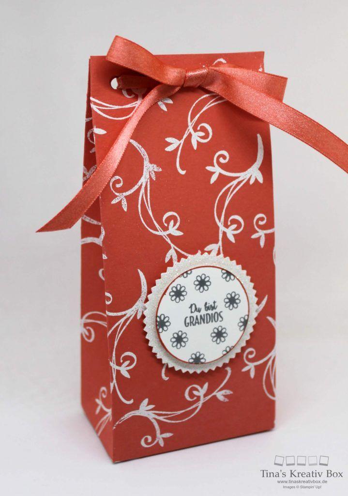 Pootler's Blog Hop – Geschenktüte Pfauengruß - mit Produkten von Stampin' Up!