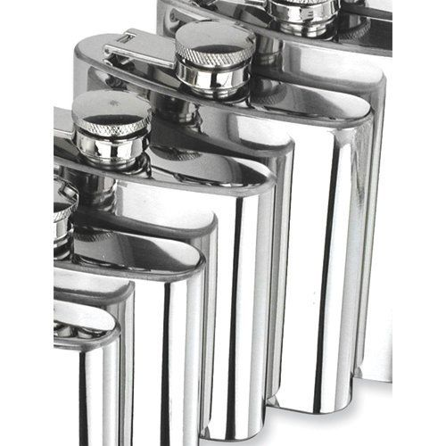 Polished Stainless Steel 6oz Square Flask Perfect Gift Idea goldia. $41.70