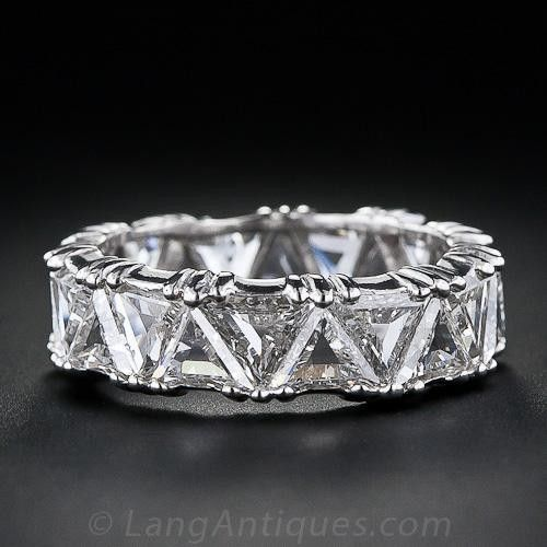 Platinum Triangle Diamond Eternity Band