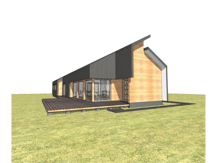 Proyecto habitacional de 200 m2 desarrollado en 1 nivel. Valdivia, Chile