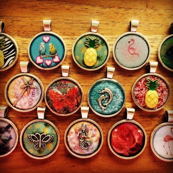 Poxierocks resin pineapple flamingo butterfly